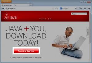 Java Front Screen